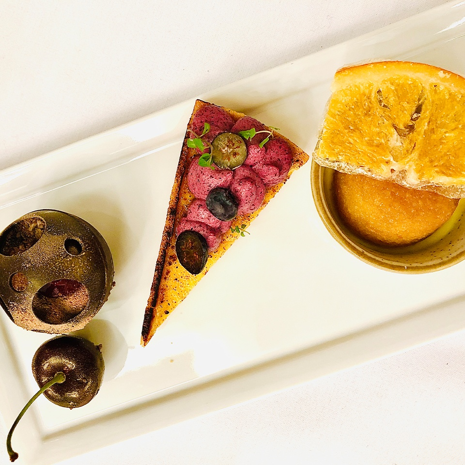 Old Palace Chester wedding catering trio of desserts